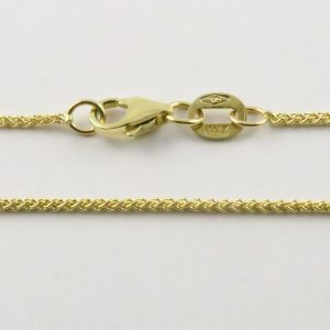 9ct Yellow Gold Wheat Chains 025 Gauge - 1.1mm Wide