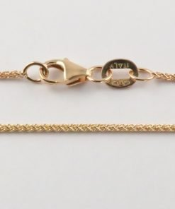 9ct Rose Gold Wheat Chains 025 Gauge - 1.1mm Wide