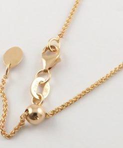 9ct Rose Gold Wheat Slider Adjuster Chains 025 Gauge - 1.1mm Wide
