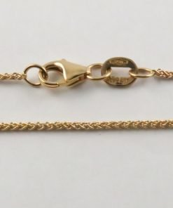 18ct Rose Gold Wheat Chains 025 Gauge - 1.1mm Wide