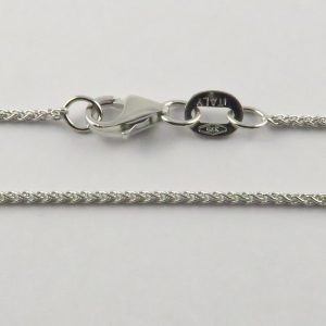 9ct White Gold Wheat Chains 025 Gauge - 1.1mm Wide