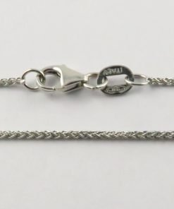 18ct White Gold Wheat Chains 025 Gauge - 1.1mm Wide