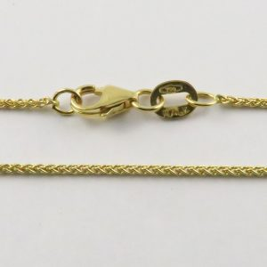 18ct Yellow Gold Wheat Chains 025 Gauge - 1.1mm Wide