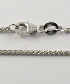 9ct White Gold Wheat Chains 032 Gauge - 1.5mm Wide