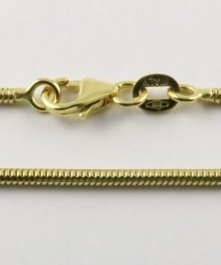 9ct Gold Snake Chains 060 Gauge - 1.6mm Wide