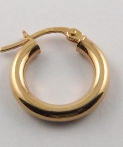 9ct Rose Gold 15mm Hoop Earring