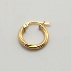 9ct Yellow Gold 14mm Twisted Hoop Earring