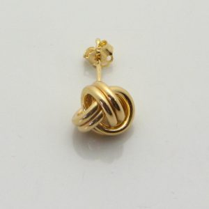 9ct Yellow Gold 10mm Stud Earring