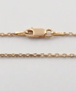 Silver Forzantina Chains 040 Gauge - 1.4mm Wide (Rose Gold Plated)