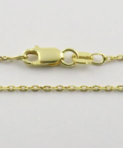 Silver Forzantina Chains 040 Gauge - 1.4mm Wide (Yellow Gold Plated)
