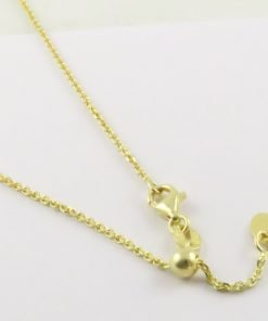 Silver Forzantina Chains 040 Gauge - 1.4mm Wide (Slider/Adjuster - Yellow Gold Plated)