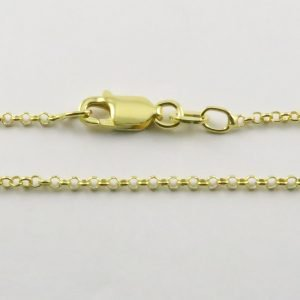 Silver Rolo Chains 020 Gauge -1.6mm Wide (Tondo - Yellow Gold Plated)