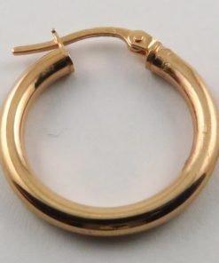 9ct Rose Gold 20mm Hoop Earrings