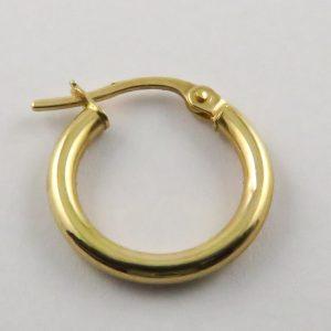 9ct Yellow Gold 15mm Hoop Earrings