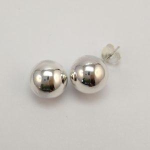 Silver Stud Earrings - 11.5mm Ball
