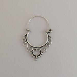 Silver Hoop Earring - 31mm Filigree