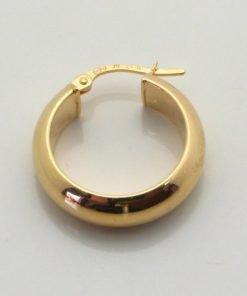9ct Yellow Gold 20mm Oval Hoop Earrings