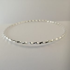 Silver Bangles - 2mm Twisted