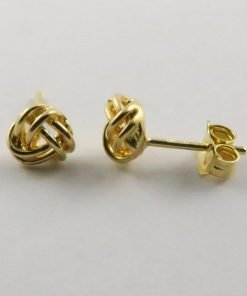 9ct Yellow Gold Smooth Knot 6mm Stud Earrings