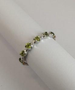 Silver Rings - 2.5mm Claw Set Peridot