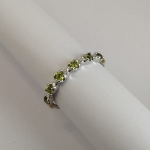 Silver Rings - 2.5mm Claw Set Peridot