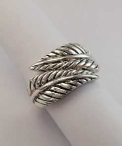 Silver Rings - Fold Over Leaf