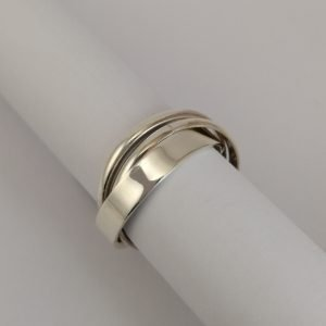 Silver Rings - 7.5mm Russian Wedding Band