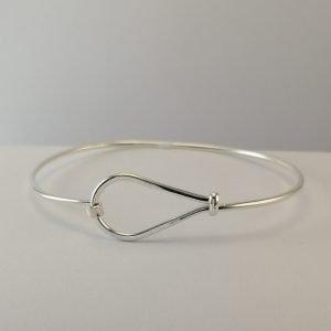 Silver Bangles - 13.5mm Teardrop Wire
