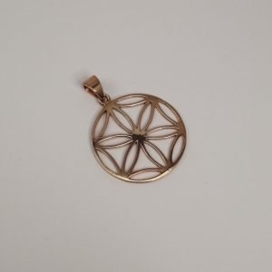 Silver Pendants - 33mm Gold Gold Plated Mandala Cut Out
