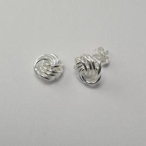 Silver Stud Earrings - 10mm Knot