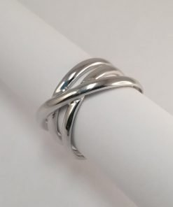 Silver Rings - 13mm Rounded Crossover