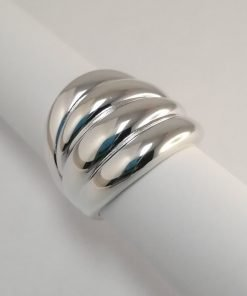 Silver Rings - 22mm Domed