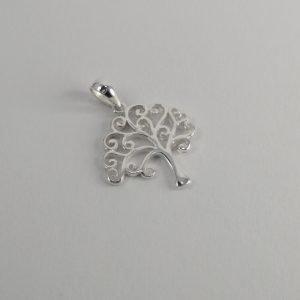 Silver Pendants - 16mm Curly Tree
