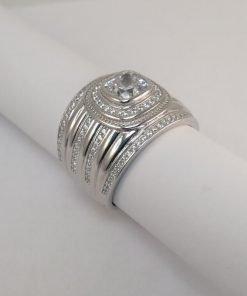 Silver Rings - 6mm Tube Set Cushion Cut