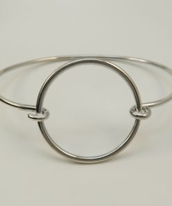 Silver Bangles - 30mm Wire Circle
