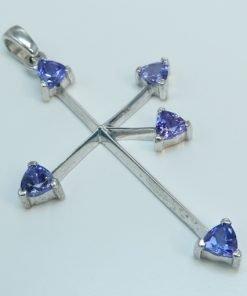 Silver Pendants - 1.20ct Trillion Cut Tanzanite Southern Cross