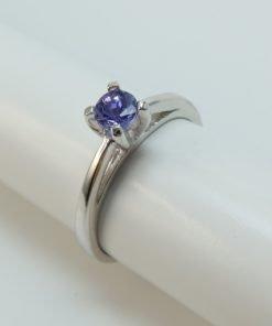 Silver Rings - 0.27ct Claw Set Tanzanite