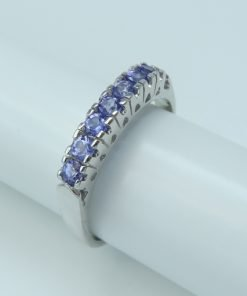 Silver Rings - 0.56ct Claw Set Tanzanite Band