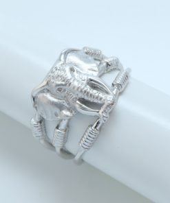 Silver Rings - 13mm Elephant
