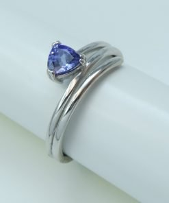 Silver Rings - 5mm Trillion Cut Tanzanite