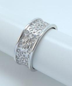 Silver Rings - 7mm Leopard Print Adjustable