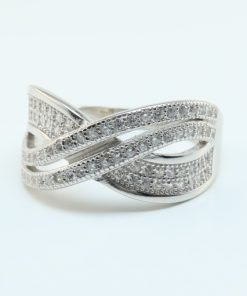 Silver Rings - 10mm Cross Over